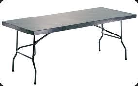 Steel folding Tables.
